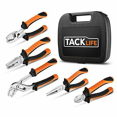 TACKLIFE 5 pezzi Set di pinze, finitura cromata ad alta densità e elevata for