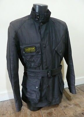 "Superb Barbour International "" Trials "" Wax Motorcycle Jacket - Sml - Vgc £225"