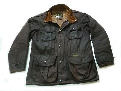 "Superb Barbour ""  Trooper "" Wax Military Style Jacket - Small - Cost £225"