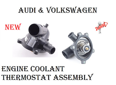 AUDI VOLKSWAGEN Engine Coolant Thermostat Assembly GENUINE 079121115BA