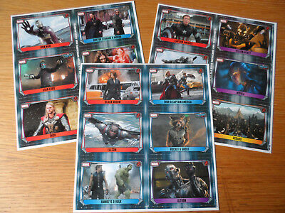 TOPPS MARVEL MISSIONS PROMO SHEETS version 1,2 & 3