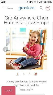 Gro Travel Seat Harness Toddler Seat stripe