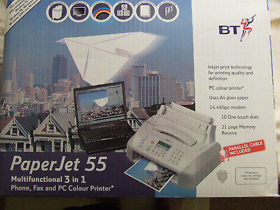 BT Paperjet 55 Multifunctional 3 in 1 Phone, Fax & PC Colour Printer