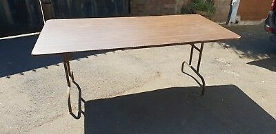 6ft x 3ft Wooden Trestle Table Wishbone Folding Legs Banqueting Catering 183cm