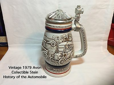 1979 Avon History of the Automobile Stein-Handcrafted In Brazil-item #2