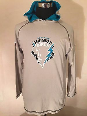 Adelaide Thunderbirds Netball MED 2010 Printed Cotton Hoodie by Blue Gum