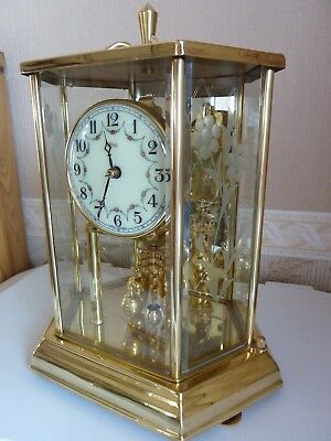 Kundo 6 Sided Brass and Glass Anniversary Clock Working
