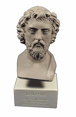 Asclepius sculpture statue Ancient Greek God of medicine museum reproduction gb