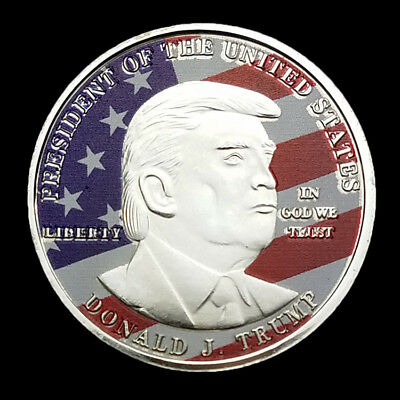 President Donald Trump Inaugural Silver EAGLE Commemorative Novelty Coin GGY