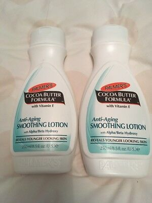 2 X Palmers Cocoa Butter Formula Anti Aging Smoothing Lotion Vitamin E 250ml