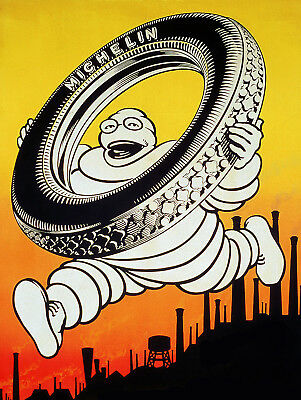 """Michelin, Retro metal Sign/Plaque, Gift 10"""" x 8"""" Large"""