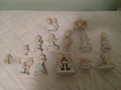 Lot of 14 Vintage Precious Moments Figurines 1979-1997