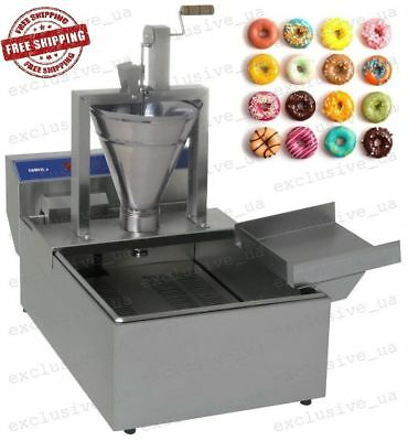 Professional Compact Donut Fryer Maker Making Machine 350 Pcs/h Small Business