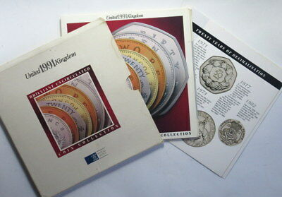 Great Britain 1991 Brilliant  Uncirculated Coin Set  #Er
