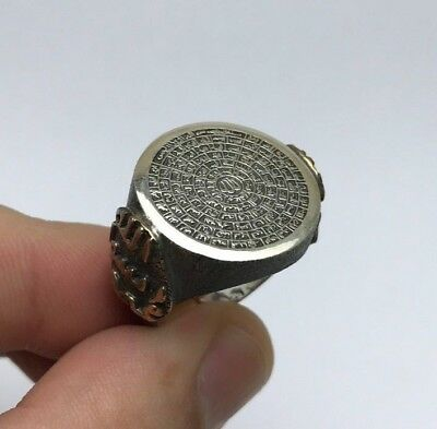 Turkish Islamic Jewelry 99 Names of Allah (C.C) 925K Sterling Silver Mens Ring 2