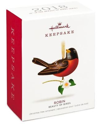 Hallmark: Robin - Beauty of Birds - Series 14th - Keepsake Ornament - 2018