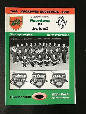 9038 - IRELAND 1998 tour v Leopards (SA) Rugby Programme 16/06 16th June IRFU