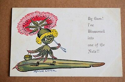 1916 Maisie Carte Gum Series Gumnuts Babies By Gum I've Blossomed Postcard