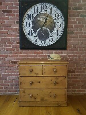Rustic antique victorian waxed honey pine chest of drawers/ bedroom/ farmhouse