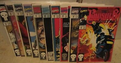 Punisher War Journal Lot - 10 Issues - FN to VF