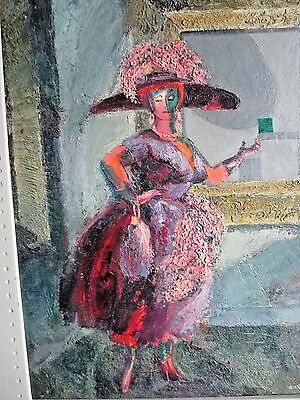 Vivid 40's Painting Listed,ROBERTA ASSELN, Artist Framed,Signed,Titled