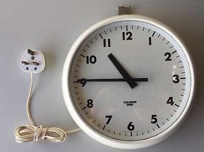 Vintage Chloride Gent of Leicester Wall Clock Electric 240V 10 inch