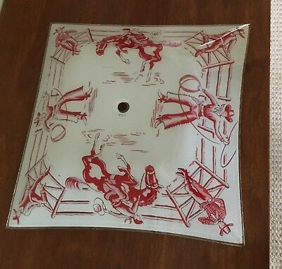Vintage 1950's Western Theme  Cowboy Rodeo Ceiling Light Fixture Cover