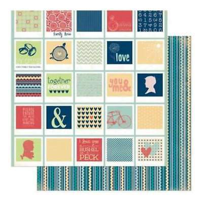 NEW Bo Bunny Press - Family Is - Family Is 12X12 D/Sided Paper (Pack Of 10)