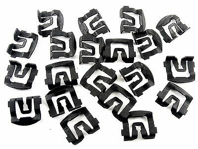 Ford Windshield & Rear Window Trim Reveal Molding Clips- 1965-1993- Qty.20- #026