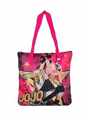 Jojo Siwa Tote Bag Girls Colorful Bag Webbed Shoulder Straps Printed