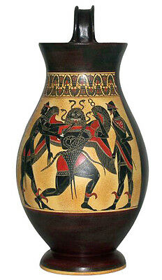 Ancient Greek Olpe Pottery Museum Replica Reproduction
