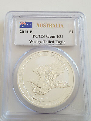 Australien 2014 Wedge Tailed Eagle $1 BU  Silber Münze