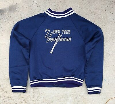 Vintage KIDS New York Yankees Snap Button Jacket baseball USA youth