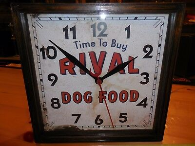Antique Rival Dog Food Clock Dated May 1938