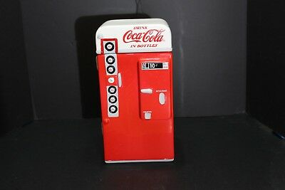 Coca Cola Ceramic Coke Machine Cookie Jar Dated 1995 - By Gibson