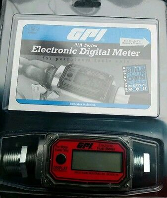 New GPI electronic digital fuel meter 01A31GM New in Packaging