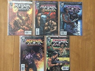 Wolverine Punisher Complete 5 Issue Marvel Comic Miniseries