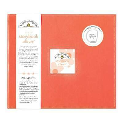 NEW Doodlebug Storybook Album 12 inch X12 inch Coral