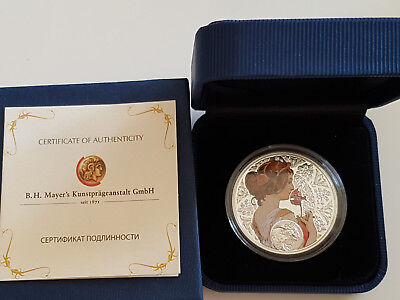 "Niue Islands 2011 Zodiac Sign 1 Dollar ""Taurus"" Ag Coin Proof pad printing"