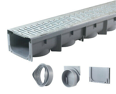 """Drainage Trench, Channel Drain Galvanized Steel Grate - 39"""" Long"""