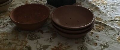 Lot of 4 Racing Pigeon Nests Bowls!! Must See!!
