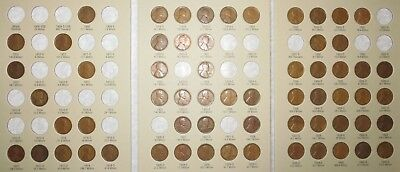 1909-1940 PDS Lincoln Wheat Penny Cent Collection, 62 coins in Album