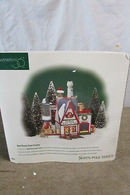 Department 56 North Pole Real Plastic Snow Factory In Original Box