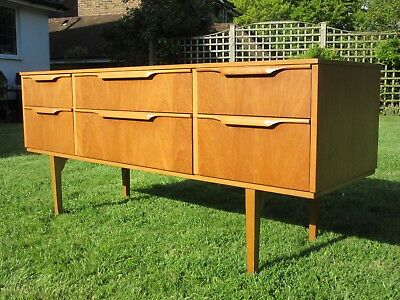 Mid Century Vintage Retro Teak Sideboard Chest of Drawers 1960s 1970s