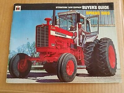 International Harvester Spring 1969 Buyers Guide Farm Tractor Plow Disc Sale lit