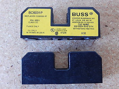 BUSS BC6031P FUSE HOLDER 30A 600V Class CC. NEW