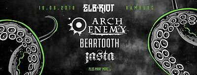 SOLD OUT! 2 Tickets - Elbriot 2018 Hamburg - Arch Enemy - Festival - Live