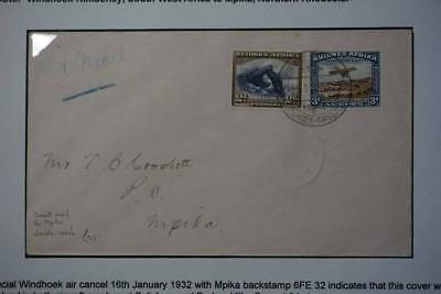 1932 Imperial Airways First scheduled flight cover North with info