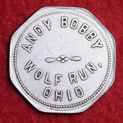 ANTIQUE TOKEN Andy Bobby Wolf Run, OHIO OH GOOD FOR $1.00 C74