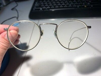 Oliver Peoples vintage P3 metal frames engraved with matching sunglass clip